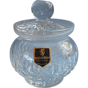 Edinburgh Crystal Cut Glass Vintage Jam Pot Marmalade Jelly Jar Scotland