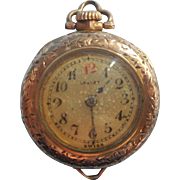 Antique Ladies Pocket Pendant Watch Petite As Is For Engraved Case