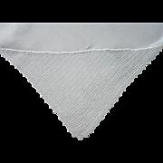 Monogram H Antique Linen Runner Filet Crocheted Lace Corners