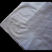 Organdy Linen Cafe Au Lait Colored Vintage Tablecloth 70 x 52