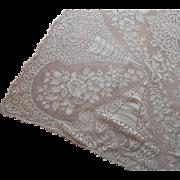 Vintage Lace Tablecloth Cream Color Quaker Type 91 x 67