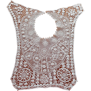 Antique Irish Crochet Lace Bib Collar ca 1910 to 1920