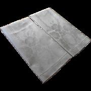 Antique Towels Unused Linen Damask Pair Large