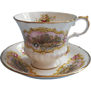 Paragon Chippendale Cup Saucer Vintage English Bone China