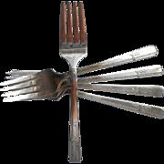 Grenoble 1938 Salad Forks Vintage Silver Plated 5