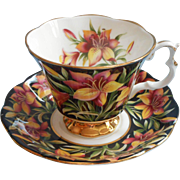 Royal lbert Prairie Lily Vintage Bone China Cup Saucer Provincial Flowers Series