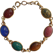 Scarab Bracelet Vintage Gold Filled