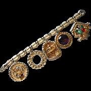 Vintage Charm Bracelet Big Size Charms Mid Century TLC