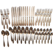 Camber Stainless Steel Flatware Vintage Oneida Service 12 Minus 7 Dinner Forks