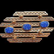 Vintage Lapis Lazuli Gold Filled Pin