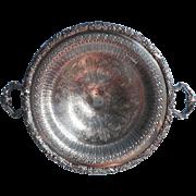 Vintage Bonbon Dish Ornate Pierced Silver Plated