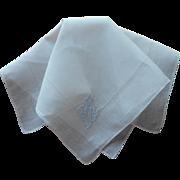 Monogram M Vintage Hankie Linen