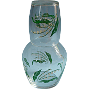 Vintage Tumble Up Glass Lily Of The Valley Libbey Guest Room Water Set Classic
