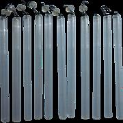 Vintage Tube Glass Chandelier Lamp Pendants Fringe Prisms Straw