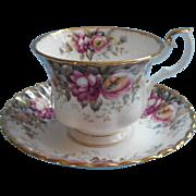 Royal Albert Autumn Roses Cup Saucer English Bone China