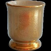 Pickard All Over Gold  China Toothpick Holder Cigarette Urn Vintage