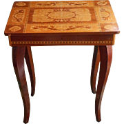 Reuge Music Jewelry Storage Box Table Vintage Marquetry Wood Debussy Isola Di Capri