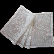 Vintage Lace Runner Cotton Filet Handsome Leafy Scrolls Motifs