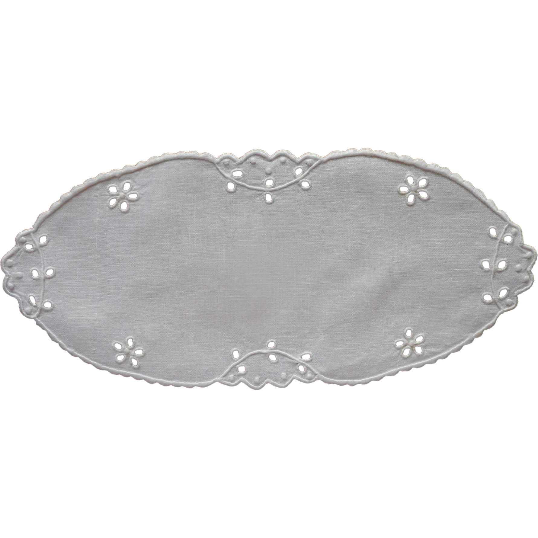 Bread Tray Doily Vintagee Linen Cutwork Hand Embroidery