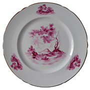Shelley Plate Magenta Pink Scenic Vintage English Bone China