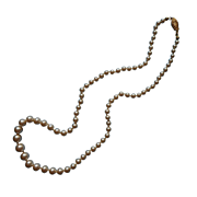 Vintage Graduated String Faux Pearls Necklace Dainty Knotted