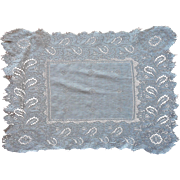 Antique Hankie Fine Cotton Lace 1910s