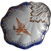 Andrea by Sadek Vintage Eagle Dish Cobalt Blue Gold On White