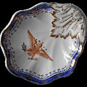 Andrea by Sadek Vintage Eagle Dish Cobalt Blue Gold On White