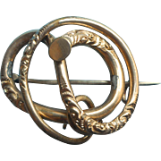 Victorian Knot Pin Antique Gold Filled TLC