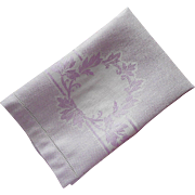 1920s Purple Towel Vintage Hand Guest Damask