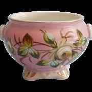 Sweet Antique Paris Pink Hand Painted Victorian China Pot Bowl