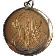Antique Locket Monogram J S M Needs A Stone TLC