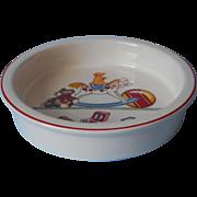 Tiffany and Co. Vintage Myott China Feeding Bowl Tiffany Toys Pattern
