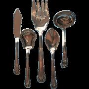 Monogram M Gorham Cavalier 1937 Silver Plated Serving Pieces Vintage