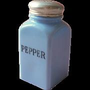 Vintage Delphite Shaker Pepper Jeannette Glass Blue Range Top Size
