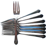Monogram M Gorham Cavalier 1937 Silver Plated Salad Forks Dessert