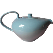 Vintage Russell Wright Iroquois Casual China Teapot Blue