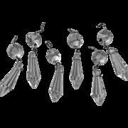 Vintage Short Little Prisms Chandelier Etc Petite Set 6