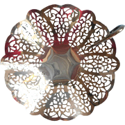 1930s Lovelace Candy Nut Nappy Dish Vintage Silver Plated Lace