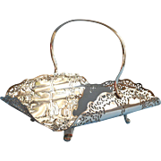 1930s Silver Plated Basket Lace Arras Pattern Tea Table Cake Fruit Benedict