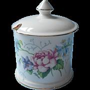 Jam Pot Marmalade Jar Vintage Englush Bone China Crown Staffordshire