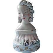 1940s Cordey Pottery Figurine 5002 Vintage Woman Ringlets Curls