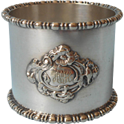 Monogram H. C. H. Antique Napkin Ring Silver Plated Handsome