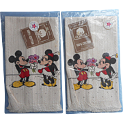 Vintage 1970s Disney Hand TowelsTowels Minnie Mickey Mouse Pair Unused