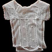 Irish Lace Net Antique Dickie Collar Armistice Period