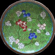 Vintage Cloisonne Enamel Dish Ashtray Chinese 1920s to 1940s