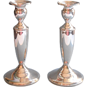 Classic Sterling Silver Candlesticks Vintage Towle Pair