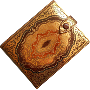 Florentine Leather Gold Tooled Vintage Italian Ladies Wallet