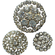 Vintage Buttons Rhinestones For Evening Wear