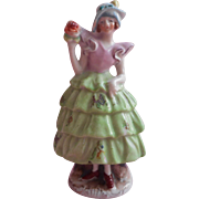 1920s Flapper Girl Colonial Dress China Figurine Vintage Occupied Japan